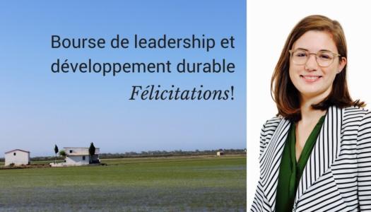 Bourse de Leadership et développement durable