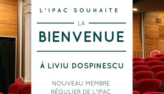 Bienvenue à Liviu Dospinescu