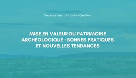 Formation Archéo-Québec