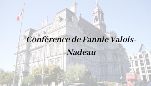 Conférence « Sur les traces du 375eanniversaire de Montréal: célébrer la ville et son passé à travers de nouvelles modalités»